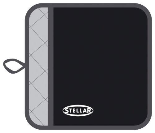 STELLAR BLACK COTTON THERMAL RESISTANT BLACK POT HOLDER MACHINE WASHABLE