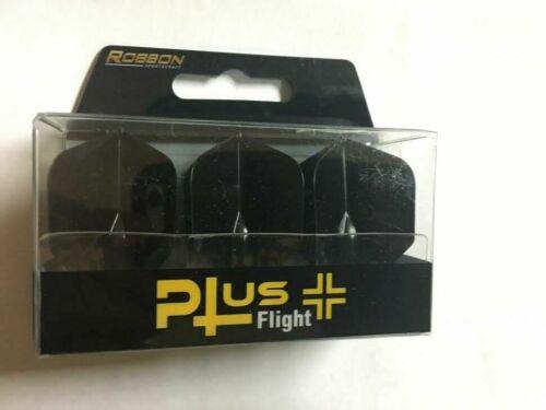 BULL/'S ROBSON PLUS DART FLIGHTS STANDARD BLACK.FITS MOST SHAFTS NO ROBIN-HOODING