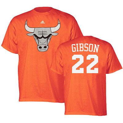 Taj Gibson ADIDAS Chicago Bulls Logo Player Jersey (Orange) T Shirt Men's