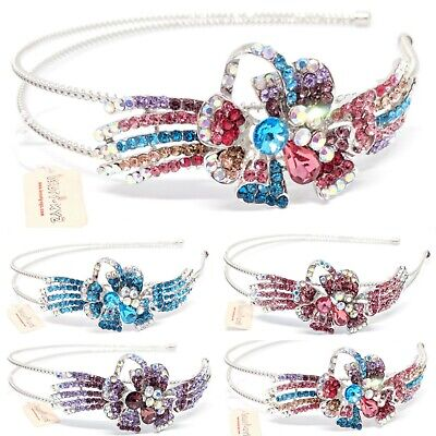 New woman girl Crystal Rhinestones metal Flower Headband head-wear Accessories