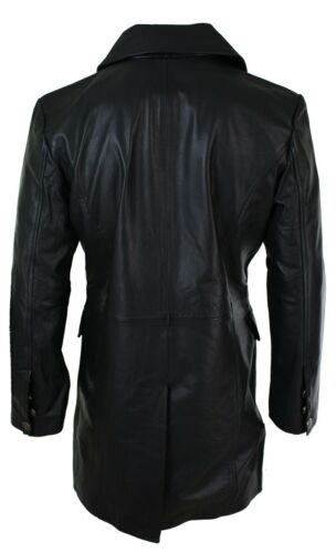 Rock Emo Real Punk Black Jacket Generals Mens Long Leather 3 German 4 qTzvPI