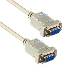 9 Pin Hembra a Hembra Módem Nulo D-Sub de serie RS232 receptor de Cable DB9F Lead 2M