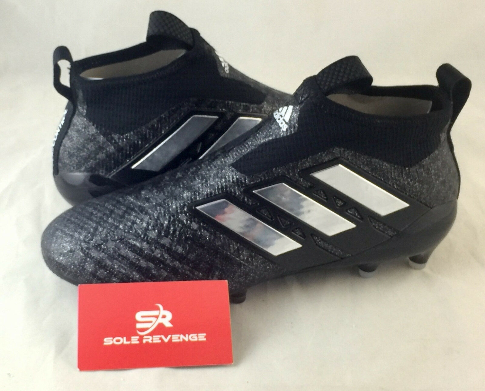 8 adidas Men Soccer ACE 17+ Purecontrol Firm Ground Cleats Black shoes BB4310