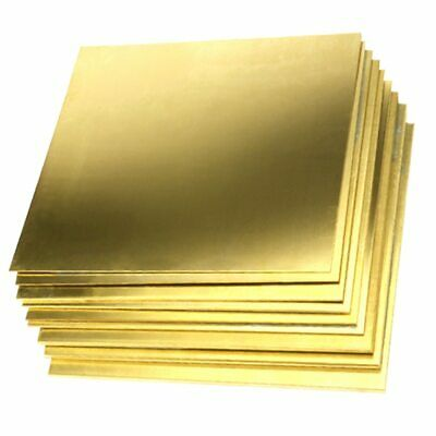 Brass Metal Thin Sheet Foil Plate Thick 0.5mm//0.8mm//1mm//2mm 100X100mm DIY YBYYW