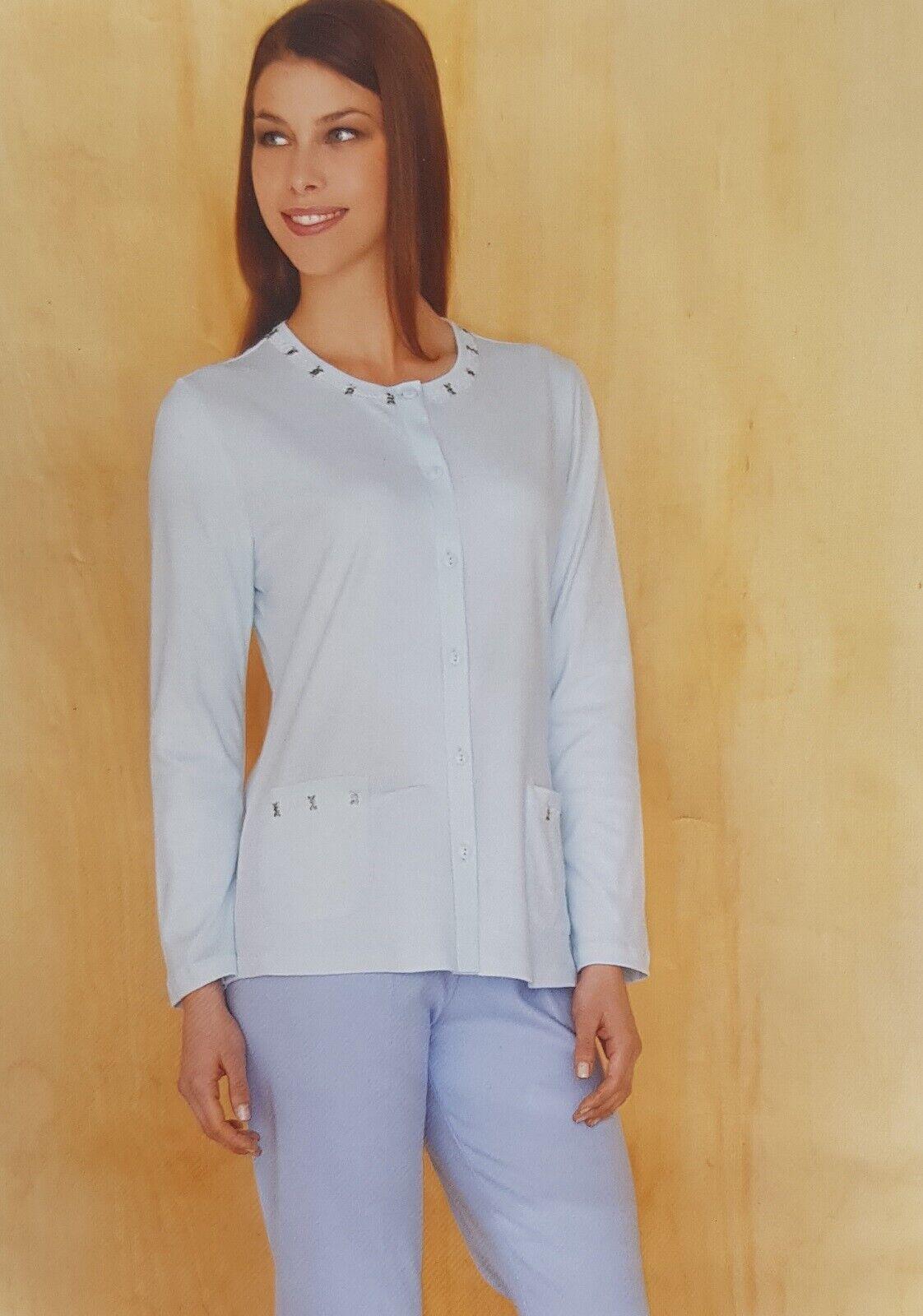 Women's Pajamas Winter Open Linclalor Warm Cotton 100% 91110 Maxi Outsize