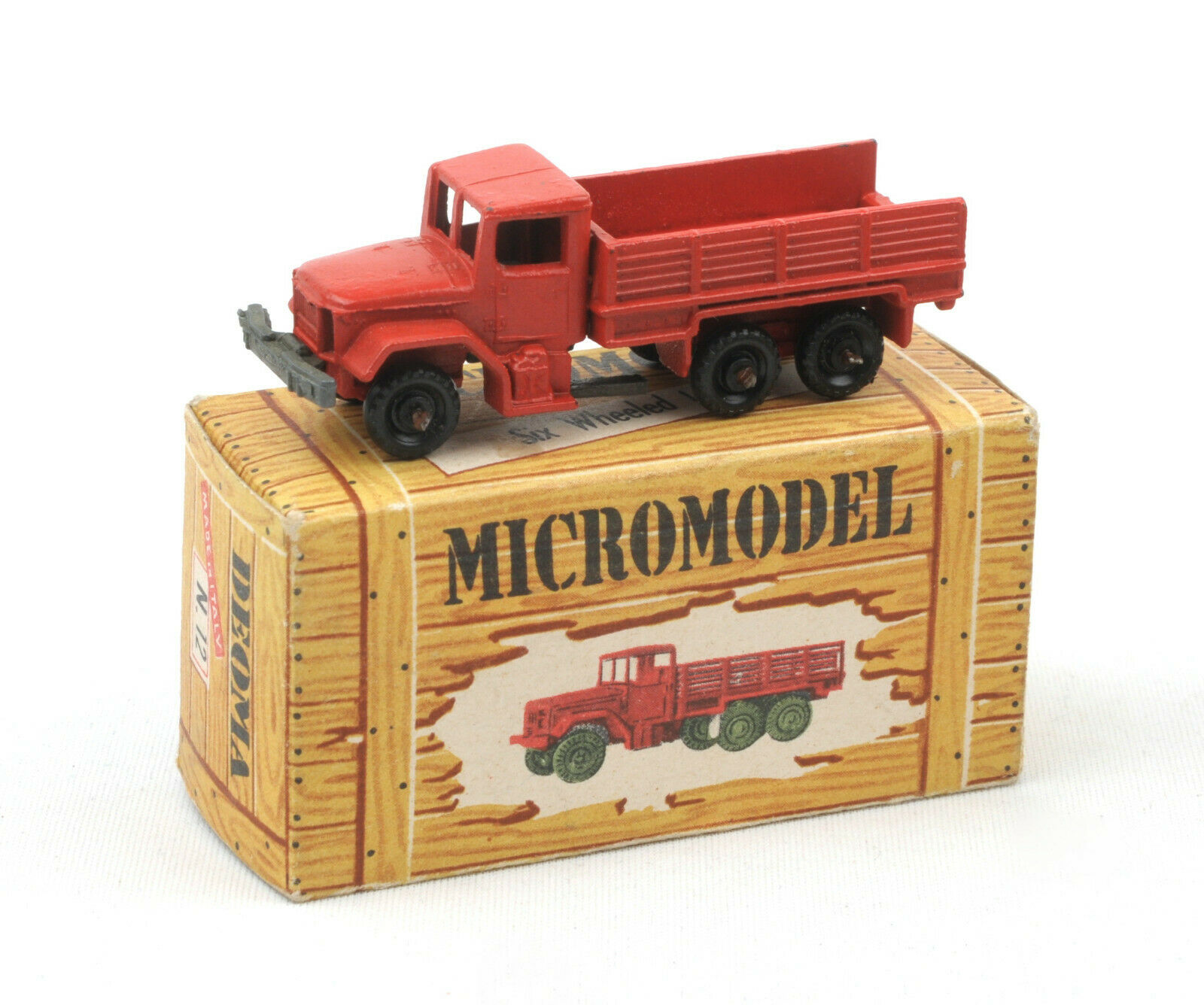 Vintage Deoma () Micromodel N.12 US Six Wheeled Civilian Lorry BOXED