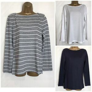 White-Stuff-Lucy-Cotton-Jersey-Long-Sleeved-Top-3-Colours-8-14-amp-16-ws-72h