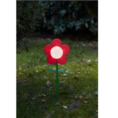 IKEA SOLVINDEN Solar-Erdspieß Blume rot NEU für draußen LED