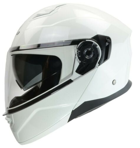 Vega Caldera Solid Modular Helmet Pearl White
