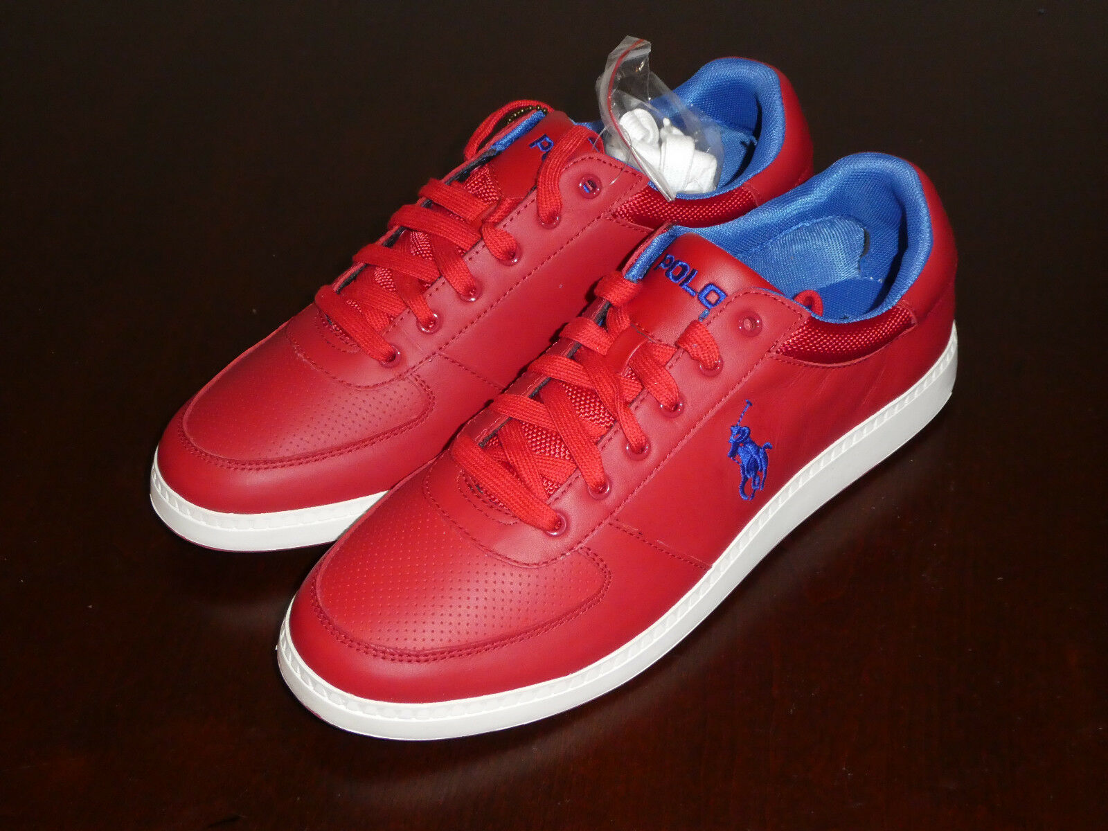1c0d959e50cd Polo Ralph Lauren Hernando shoes sneakers new red Sport mens ...