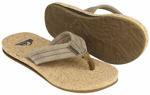 c4a94e731bb7 Image is loading Quiksilver-Mens-Carver-Cork-Beach-Casual-Sandals-Brown