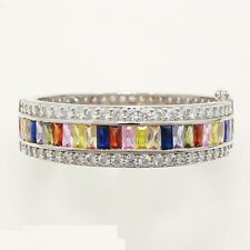 HUGE Morganite Amethyst Garnet Sapphire Quartz Citrine 925 silver bracelet