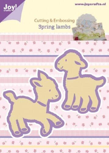 Joy crafts die cutting /& embossing stencil printemps agneaux 2pc 6002//0435 *