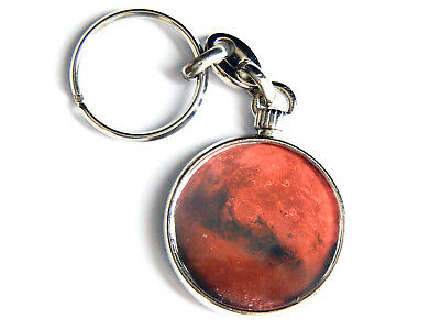 Planet Mars Outer Space Galaxy Quality Chrome Keyring Picture Both Sides