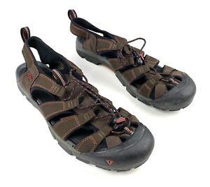 Keen-Men-s-Sandals-Mountain-Bike-Bicycle-Clip-In-Waterproof-12-Brown