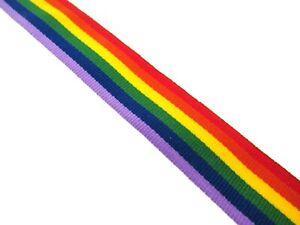 1m Regenbogen Band Stolz Gros Grain 1cm 9mm Bekleidung Haarschleife Kuchenbrett