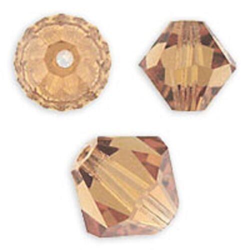 Light Smoked Topaz Color 144 PCS 4mm Swarovski Crystal Bicone Approx 5328