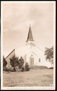 CAMP-CROFT-SC-2nd-Regimental-Area-Chapel-Vtg-RPPC-Postcard-Old-Military-Photo-PC