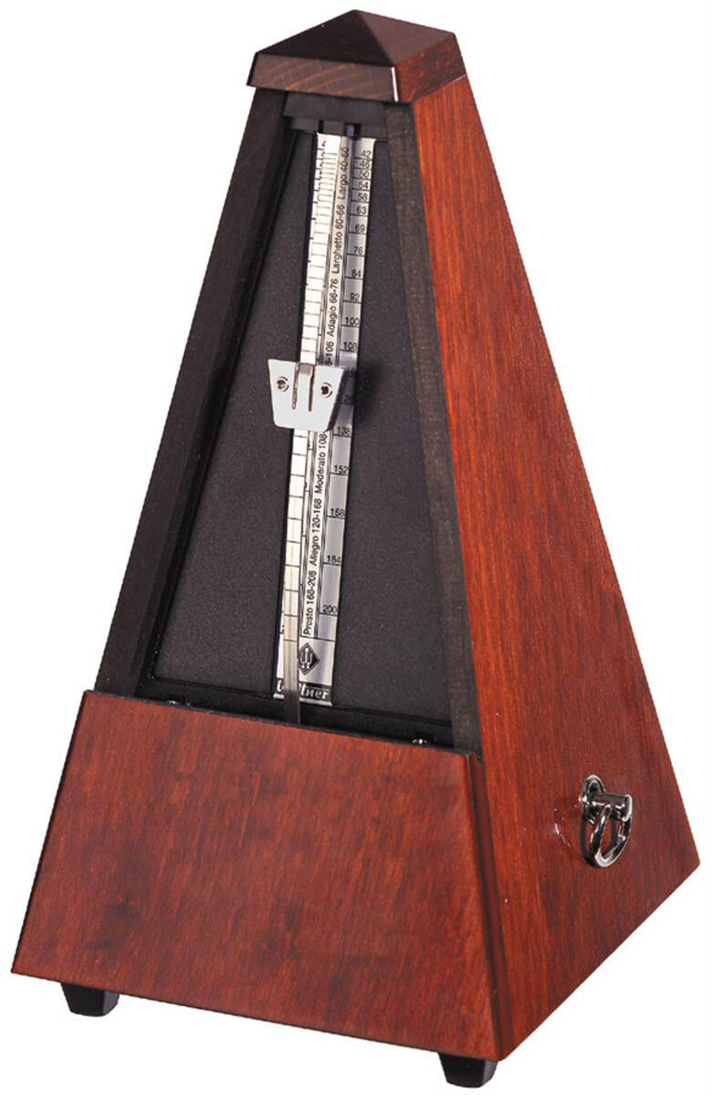 Wittner Wood Key Wound Metronome Mahogany Finish 801m New-Free Extended Warranty