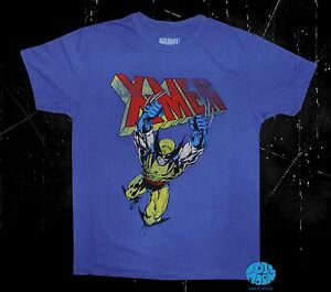 New-Marvel-Comics-X-Men-Wolverine-Blue-Cartoon-Mens-Vintage-T-Shirt