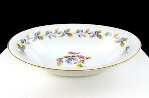 NORITAKE-JAPAN-5173-OAKWOOD-BLUE-ACORNS-10-5-8-034-OVAL-VEGETABLE-BOWL-1950-1951