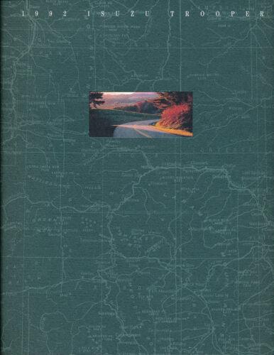 1992 Isuzu Trooper 20-page Original Car Sales Brochure 4x4 4wd