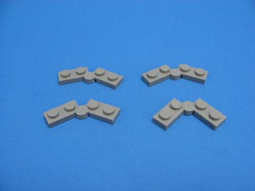 4x LEGO Old Gray Hinge Plate 1x4 Swivel Base /& Top 6079 6077 6984 #2429 2430