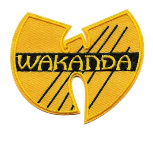 """WAKANDA IRON ON PATCH 4/""""  Black Panther Superhero Wu Tang Embroidered Applique"""