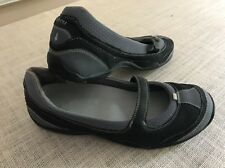 Women's AHNU Black & Gray Slip On Mary Jane Shoes Sz 10 ADORABLE!!