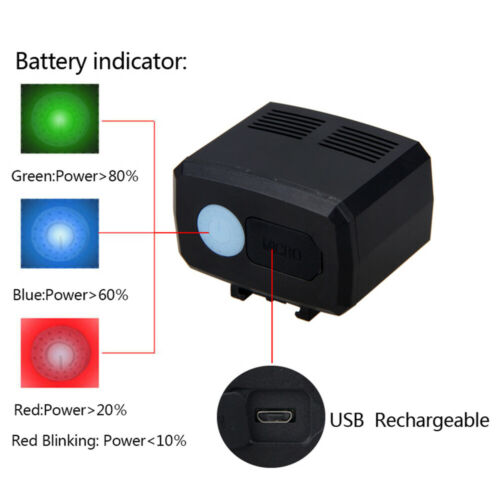 20W LED Bicycle Headlight USB Rechargeable Bike Head Light Front /& Rear Lamp Kit