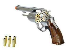hfc 44 magnum revolver green gas airsoft pistol handgun silver