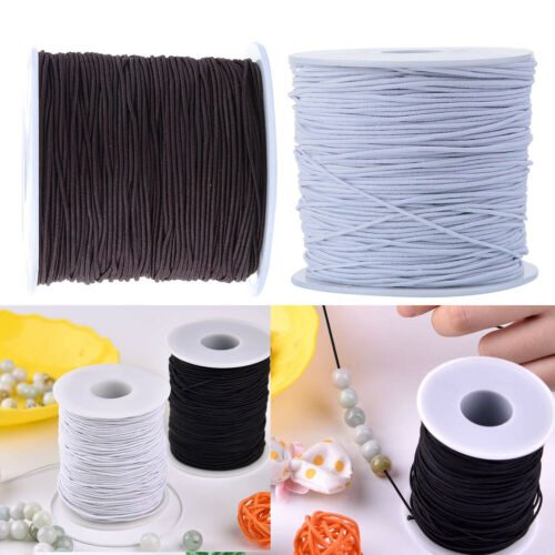 1.5mm FASCE ELASTICHE elastico rotondo Girovita Corda per Cucito Abbigliamento Pantaloni Lingerie