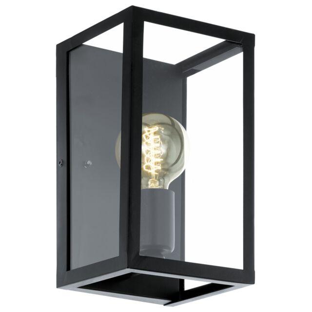 Eglo Wandleuchte/Deckenleuchte CHARTERHOUSE schwarz, E27 max. 1X60W