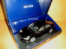 1:18 2014 China PEUGEOT ALL NEW 508 SEDAN BLACK Color die cast model + gift