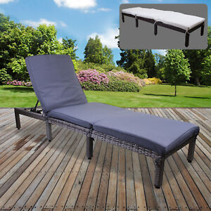 Image Is Loading Rattan Sun Lounger Day Bed Recliner Garden Patio