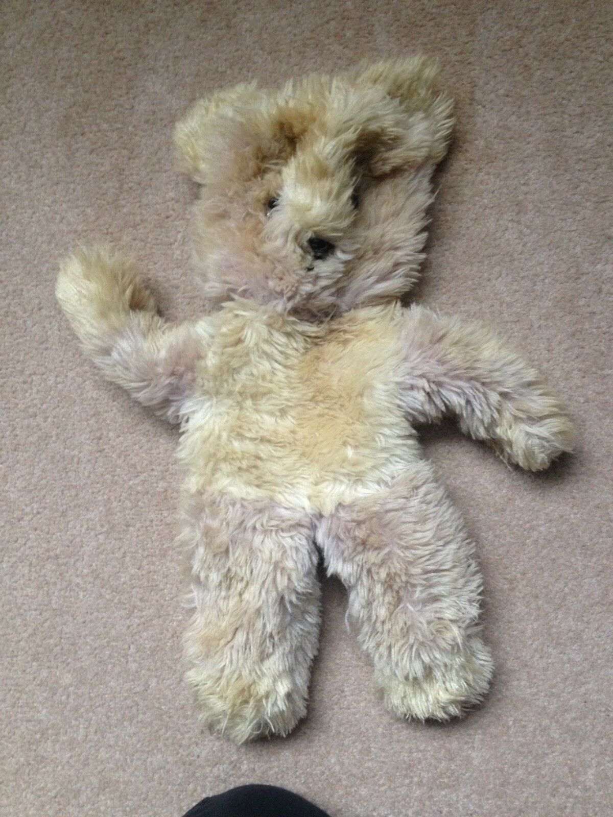 Jan Jac  Beige plush Bear Vintage from the 1950's  30cms  left paw labelled