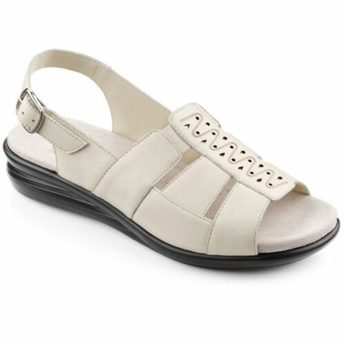 Hotter Candice Ladies Beige Wide Fitting Comfort Sandals RRP 59.00