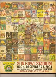 2008 Sun Bowl Game Program Oregon State Pittsburgh