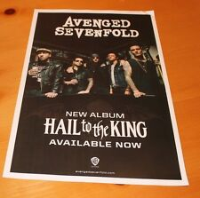 """Avenged Sevenfold Hail to the King NEW promo poster 11"""" x 17"""" double sided"""