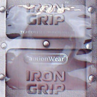 Caution Wear Iron Grip Snugger Fit Silicone-based Lubricated Condoms 72-pack