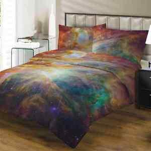 Funda Nordica Espacio.Detalles De 3d American Doble King Size Galaxy Conjunto De Funda Nordica Espacio Nebulosa