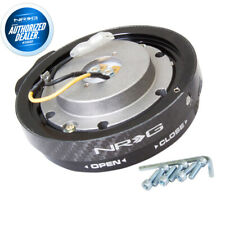 New Nrg Steering Wheel Thin Slim Quick Release Version Carbon Fiber Srk 400cf