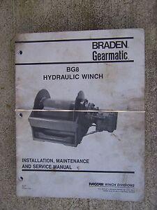 1994 braden gearmatic bg8 hydraulic winch service manual more in our rh ebay com Braden Winch Manual Braden Winch Manual