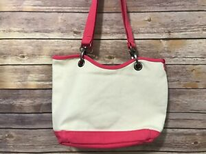 Canvas-Crew-by-Thirty-One-Natural-Beige-Pink-Tote-Bag-Small-Shoulder