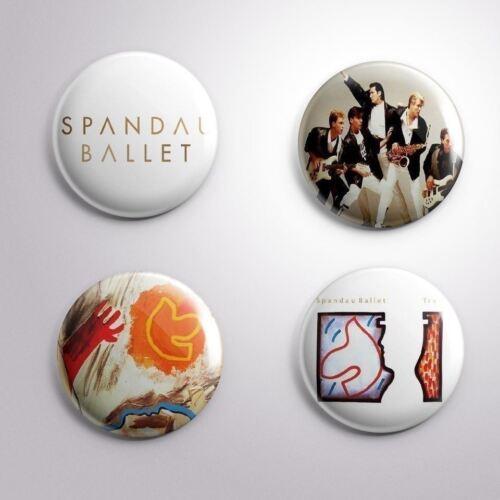 4 SPANDAU BALLET Pinbacks Badge Button 25mm 1/'/'..