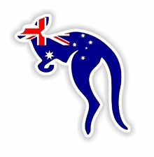 Kangaroo with Australian Flag Oceania Australia Sticker for Bumper Locker Tablet