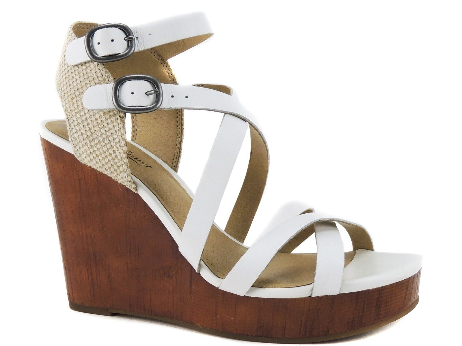 Lucky Brand Women's Lahoya Sandals White Leather Size 9 M
