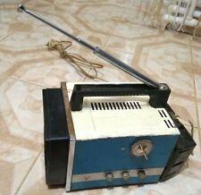 RARE VINTAGE  SOVIET USSR PORTABLE B & W ANALOG TV ELEKTRONIKA VL-100 TRANSISTOR