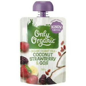 Only Organic Coconut Strawberry & Goji 120 gram