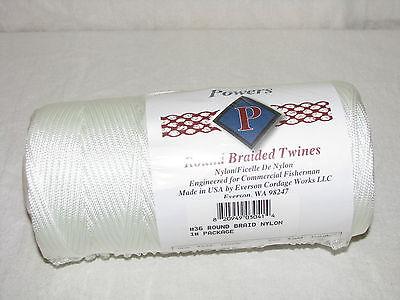 360 Lbs Tensile Case Net Repair Etc - #36 Round Braid Nylon Twine 540 Ft 12